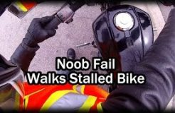Noob Fail: Walks Stalled Motorcycle Home - FINE-C Lesson Learned