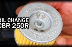 DIY Oil Change on Honda CBR 250R