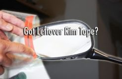 Using Leftover Motorcycle Rim Tape