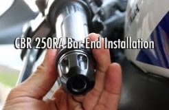 Bar Ends Install - Honda CBR 250R Motorcycle