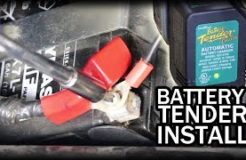 How to install a battery tender on a CBR250R motorcycle