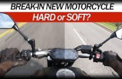 Break in my new Yamaha MT-07 motorcycle