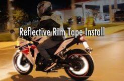 Motorcycle Rim Tape Installation & Night Test Ride - CBR 250R