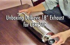 """Unboxing Delkevic 18"""" Stainless Steel Exhaust - CBR250R"""