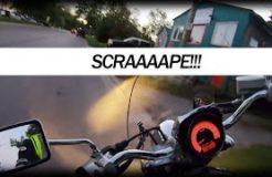 My First Footpeg Scraper - Suzuki M50 Cruiser Motorcycle
