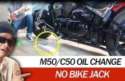 Oil Change DIY Suzuki Boulevard M50/C50 Without Motorcycle Jack Stand