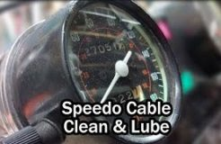 Clean & Lubricate Speedometer Cable - CB450SC Motorcycle