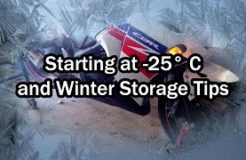Cold Start in -25 Celsius & Motorcycle Winter Storage Tips