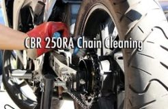 Motorcycle Chain Cleaning & Maintenance - CBR 250R