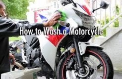 How to Wash & Clean a Motorcycle - CBR250R Motorbike